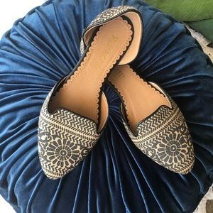 Restricted Tribal Moroccan Print Pointy Toe Flats